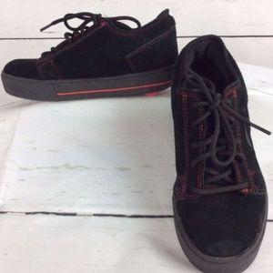 Heelys Kids Youth 5 Shoes Skate Wheeled Black Red